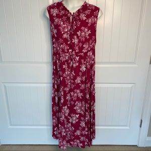 Torrid sleeveless floral maxi dress size 3